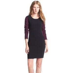 DVF Octavia Woven Color Block Sheath Dress